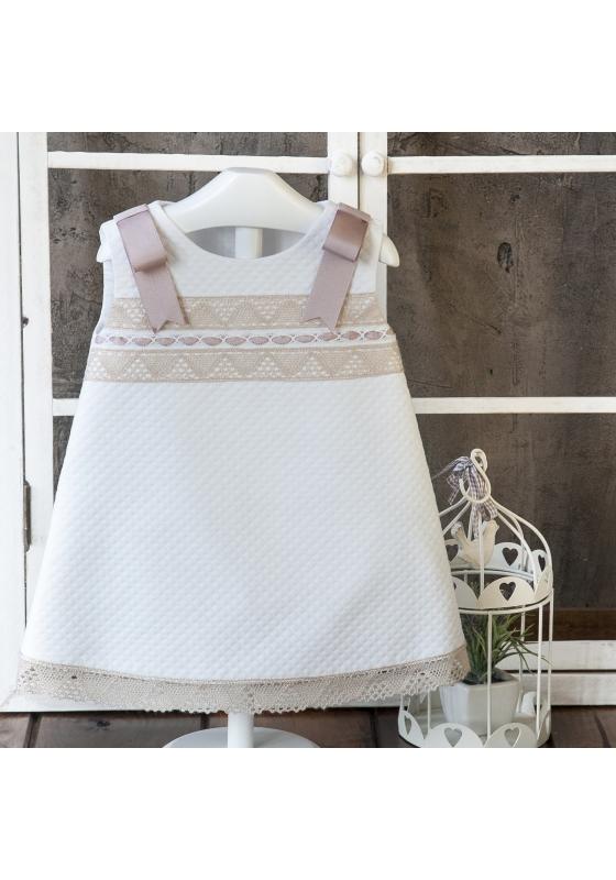 Vestido 'Blanco-Marfil'